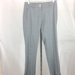 Nike Golf Dri Fit Flat Front Pants 6 Gray Plaid